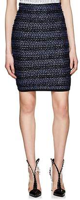 Balmain WOMEN'S STRIPED TWEED MINISKIRT