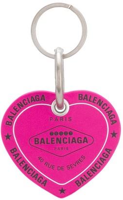 Balenciaga Casino Heart keyring