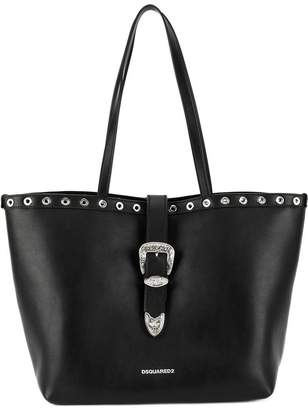 DSQUARED2 western buckle tote bag