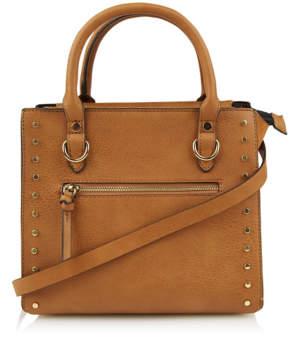 George Tan Studded Trim Boxy Tote Bag
