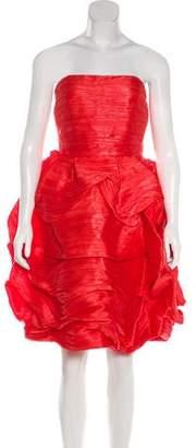 Oscar de la Renta Strapless Mini Dress w/ Tags
