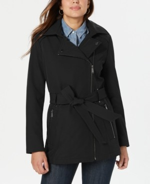 BCBGeneration Asymmetrical Hooded Raincoat