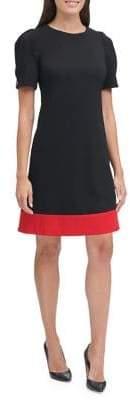 Tommy Hilfiger Colourblock Scuba Crepe Shift Dress