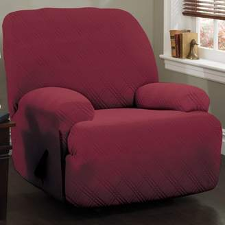 Red Barrel Studio Double Diamond Stretch Sensations Box Cushion Recliner Slipcover
