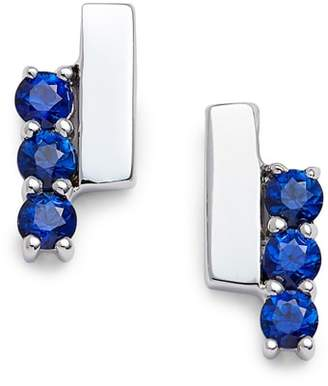 Sylvie Dana Rebecca Designs Rose Sapphire Bar Stud Earrings