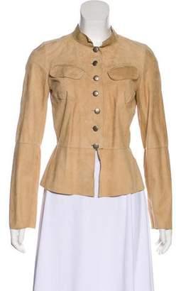 Joseph Suede Button-Up Jacket