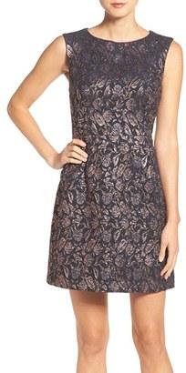 Betsey Johnson Metallic Jacquard A-Line Dress $168 thestylecure.com