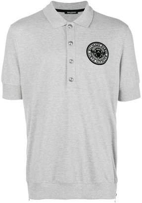 Balmain embroidered logo polo shirt