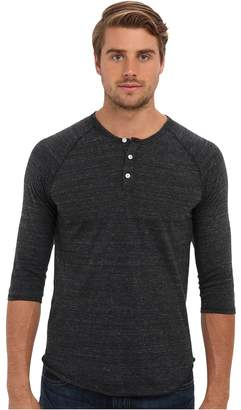 Alternative 3/4 Raglan Henley Men's Long Sleeve Pullover