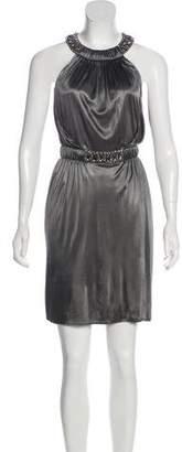 Versace Embellished Sleeveless Dress