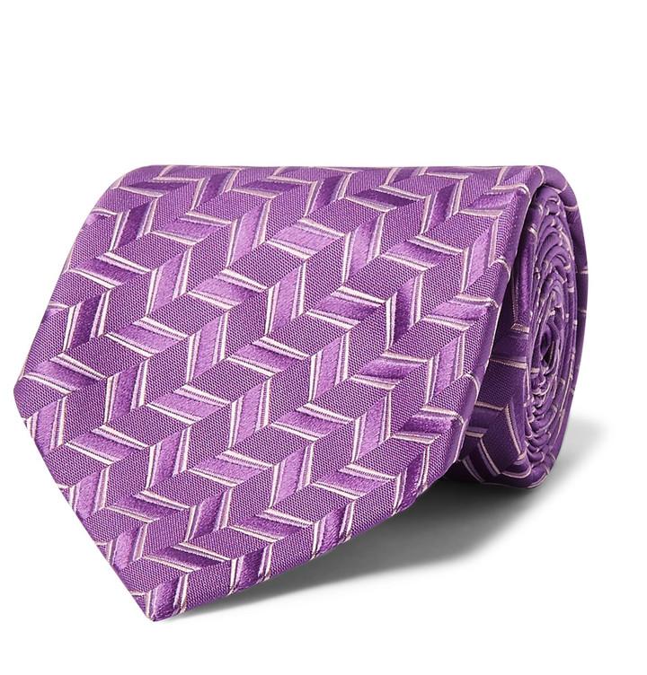 CharvetCharvet 8.7cm Woven Silk Tie