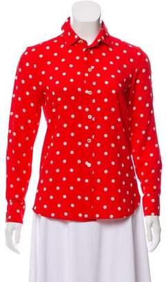 Saint Laurent Polka Dot Button-Up Blouse