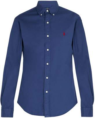 Polo Ralph Lauren Logo-embroidered long-sleeve cotton shirt