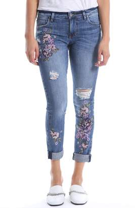 KUT from the Kloth Catherine Floral Boyfriend Jeans