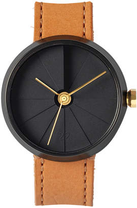 "Intoconcrete Leather & Brass Watch ""4th Dimension 42mm Midnight"""