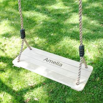 Harmony at Home Children's Eco Boutique Kid's Personalised Wooden Swing