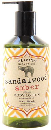 Olivina Sandalwood Amber Body Lotion