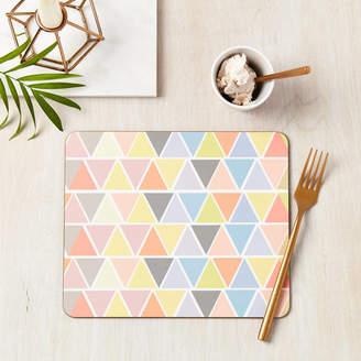 Tillie Mint Loves Geometric Pastel Pattern Placemat Set