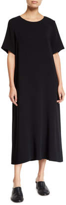 The Row Rory Short-Sleeve Jersey Maxi Dress