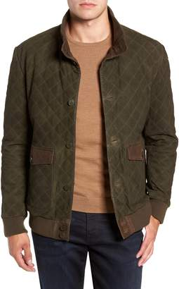 FLYNT Regular Fit Quilted Suede Jacket