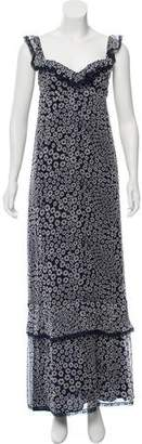 Philosophy di Alberta Ferretti Sleeveless Floral Print Dress