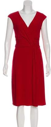 Lauren Ralph Lauren Gathered Midi Dress