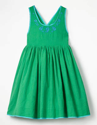 Boden Pretty Embroidered Bow Dress