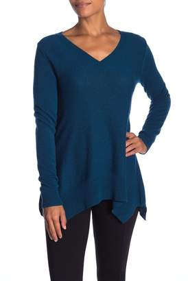 Sofia Cashmere Trapeze V-Neck Cashmere Sweater