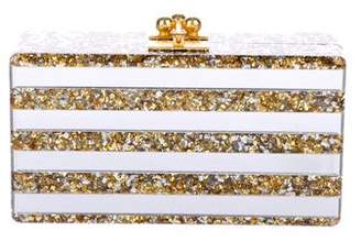Edie Parker Striped Jean Confetti Box Clutch