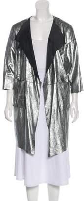 Giorgio Brato Metallic Leather Coat