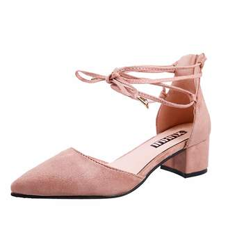 e95b4564b6ff at Amazon Canada · Dasuy Women s High Heel Pointed Toe Square Heel Ankle  Buckle Strap Shoes Ladies Sandal Shoes Comfortable