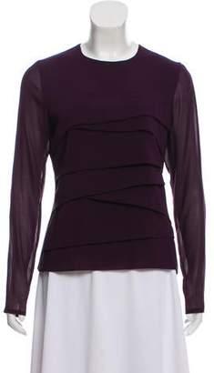 Les Copains Silk Long Sleeve Top