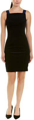 Elie Tahari Leather-Trim Sheath Dress