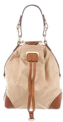 Ralph Lauren Leather-Trimmed Nylon Shoulder Bag