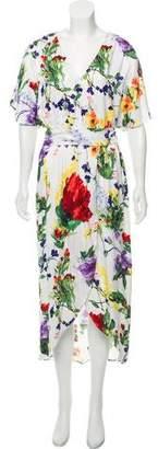 Alice + Olivia Floral Print Midi Dress