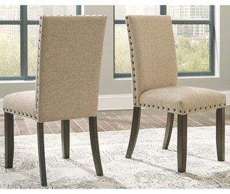 Gracie Oaks Chapdelaine Upholstered Dining Chair (Set of 2) Gracie Oaks