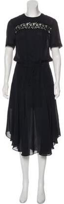 A.L.C. Short Sleeve Midi Dress