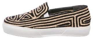 Robert Clergerie Raffia Slide Sneakers