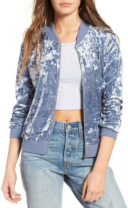 Love, Fire Velvet Bomber Jacket $49 thestylecure.com