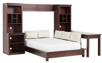 Pottery Barn Teen Stuff-Your-Stuff Platform Bed Super Set (Bed, Towers, Shelves + Desk), Queen, Dark Espresso