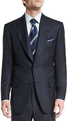 TOM FORD Windsor Base Birdseye Wool Two-Piece Suit, Navy $4,990 thestylecure.com