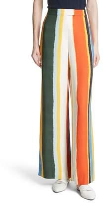 Tory Burch Fiona Stripe Wide Leg Pants