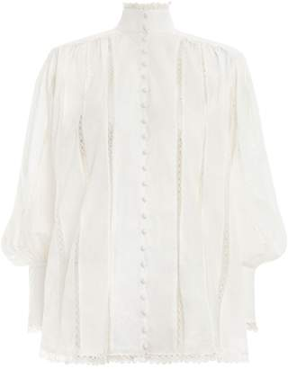 Zimmermann Lace Smock Blouse