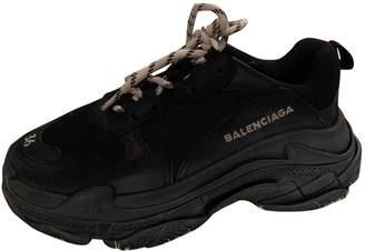 Balenciaga Triple S Leather Trainers