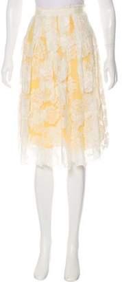 Lela Rose Lace Knee-Length Skirt