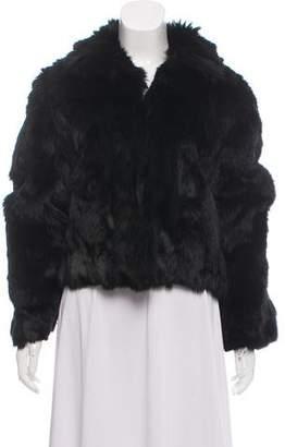 Adrienne Landau Fur Collared Jacket