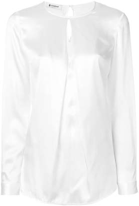 Dondup long sleeved keyhole blouse