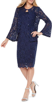 Onyx Nites Long Sleeve Jacket Dress