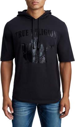 True Religion MENS SHORT SLEEVE PULLOVER HOODIE