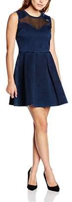 GUESS Women's Crew Neck Sleeveless Dress X-Small - Blue - X-Large